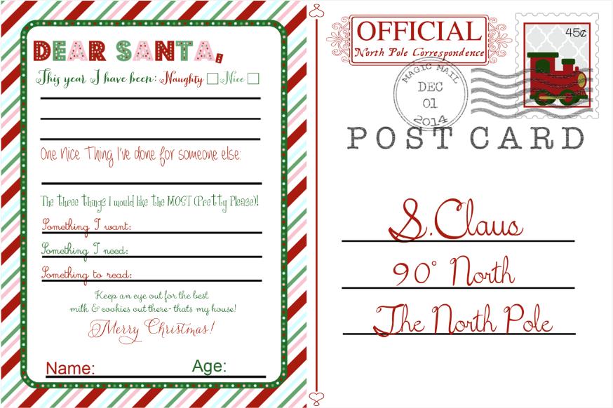 Free Santa Postcard Suyhi Margarethaydon Com