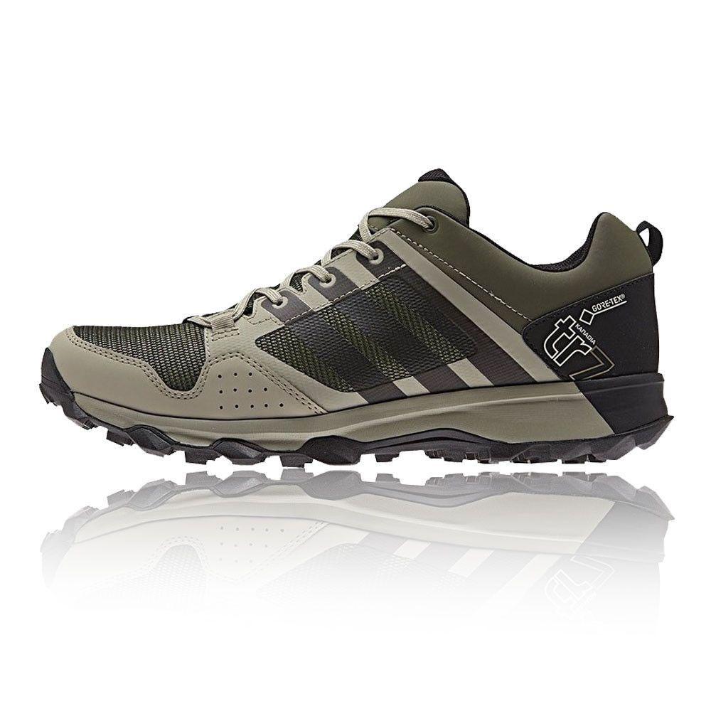 Adidas kanadia 7 TR hombre  GRIS verde Gore - Tex Waterproof corriendo