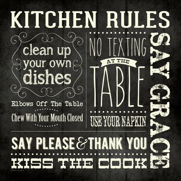 Kitchen Rules 12x12 PRINT #kitchenrules