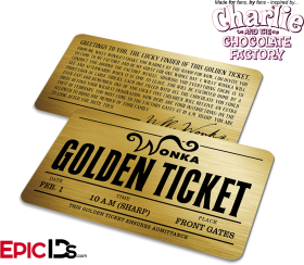 Pin On The Golden Ticket To The Chocolate Factory