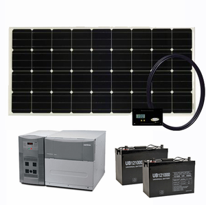 1800 Watt Solar Generator Complete With 2 100 Ah Batteries For Homes Cabins And More Solar Panels For Home Best Solar Panels Solar Panels