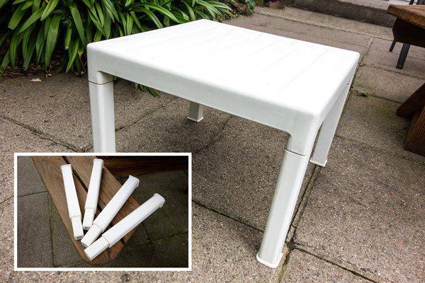 Mini White Table Small Plastic Garden Jpg