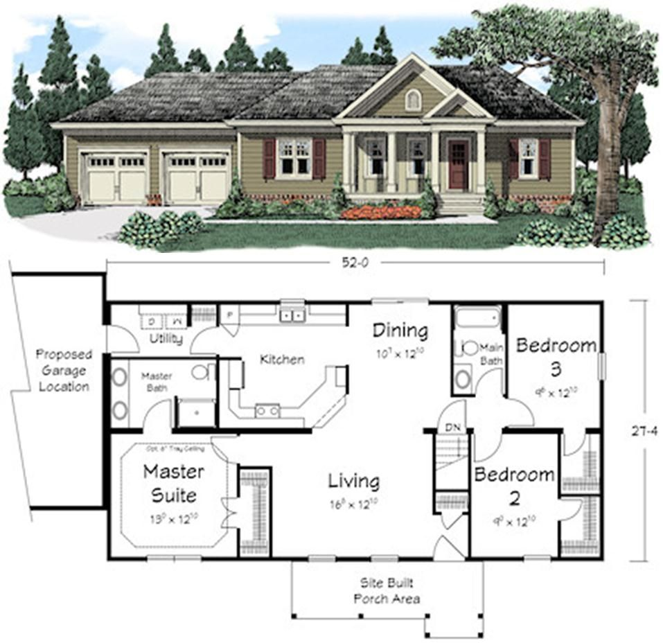 Pin By Ritz Craft Custom Homes On Popular Plans Ranch Style House Plans New House Plans Ranch House Remodel