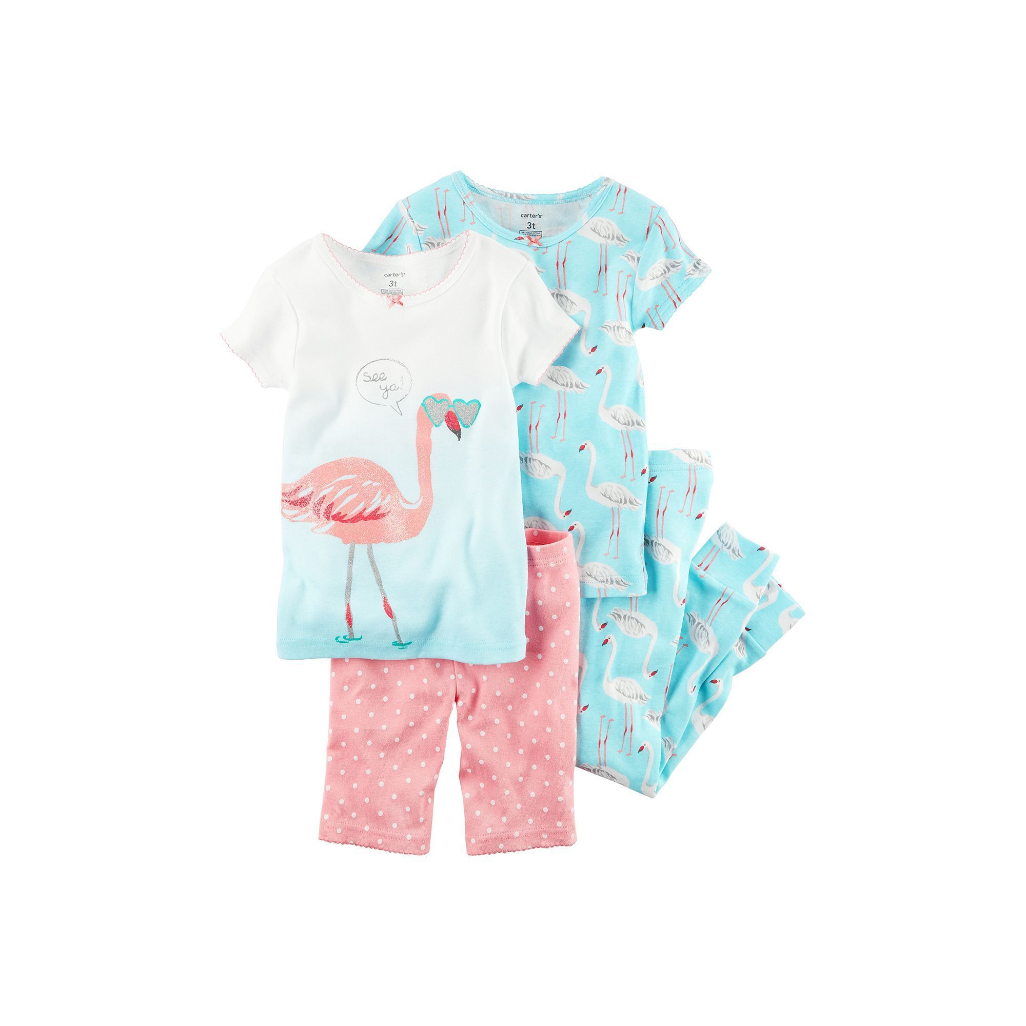90ffdf47f Baby Girl Carter s 4-pc. Graphic   Print Tee