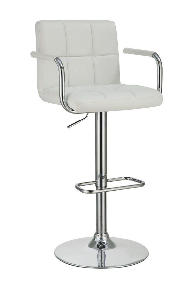 Contemporary White 121097 Bar Stool | Adjustable bar ...