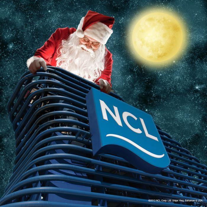 We found Santa! Looks like he couldn't wait to #CruiseLikeaNorwegian!