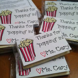 """Little gifts for families that come to """"Meet the Teacher"""" night. This made me think of you @Christine Smythe Smythe Smythe Smythe Smythe Ryson"""