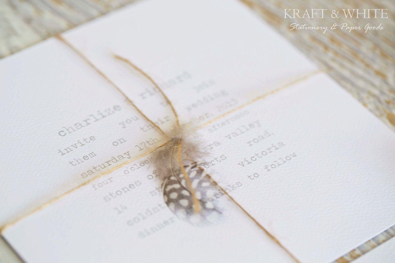 Sample wedding invitation set SUITE 12:Rustic wedding invitation ...