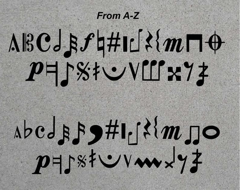 Musical Academy Font--TTF--All letters of the alphabet