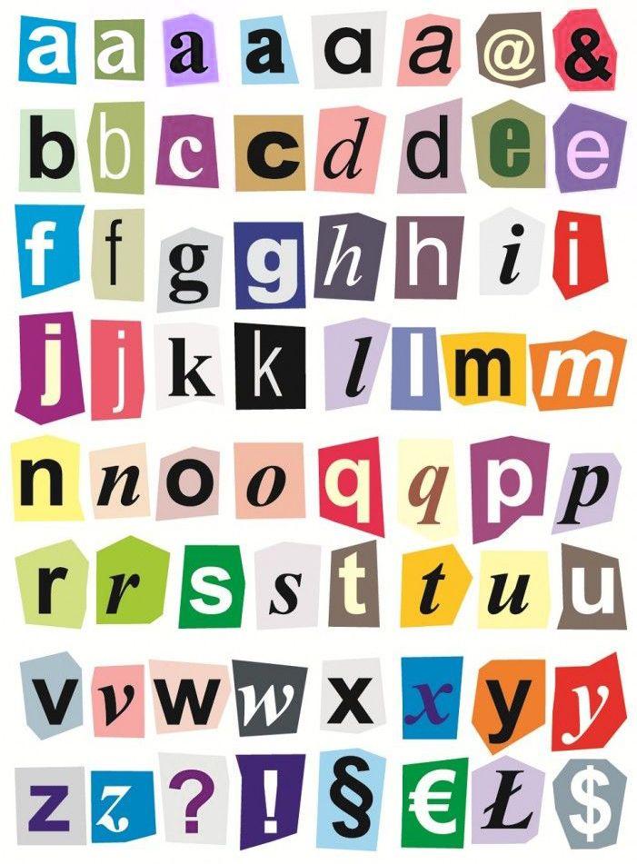 Stickers de letras para imprimir