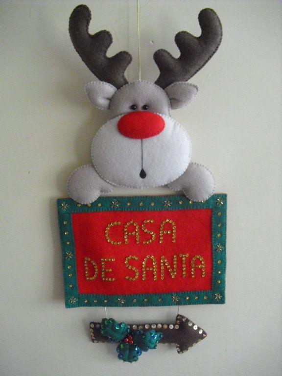 Navidad fieltro temporadas hola y espere - Coronas navidenas faciles ...