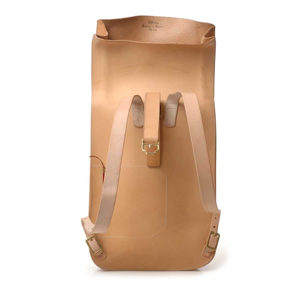 Natural Leather Postal Backpack 3 by Kika NY - shop at Roztayger ...