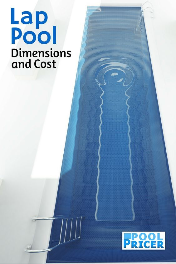 Lap Pool Dimensions and Cost | Piscinas | Lap pool cost, Pool sizes ...
