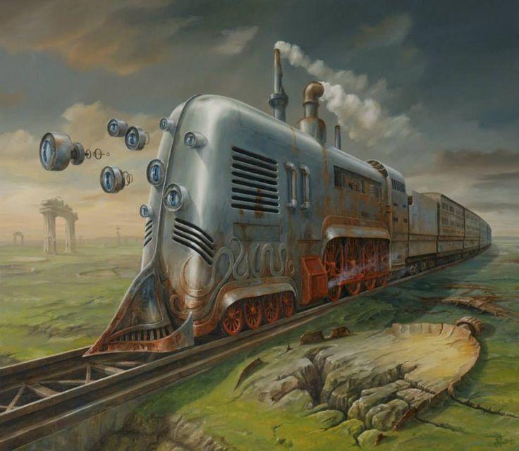 Vintage Science Fiction Wallpaper Google Search: Steampunk Trains - Google Search