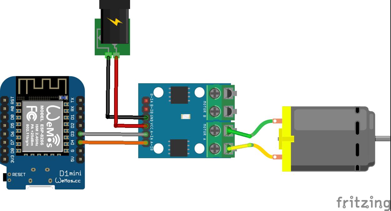 Esp8266 And L9110 Fan Module Example Arduino Schematic Temperature Control Circuit Diagram H Bridge