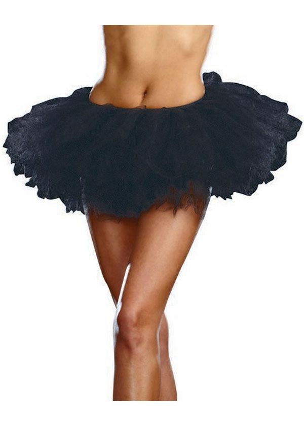 Tutu style petticoat for your Halloween costume or party dress - black skirt halloween costume ideas