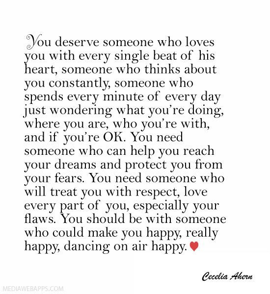 You Deserve Someone Who Loves You With Every Single Beat Of His