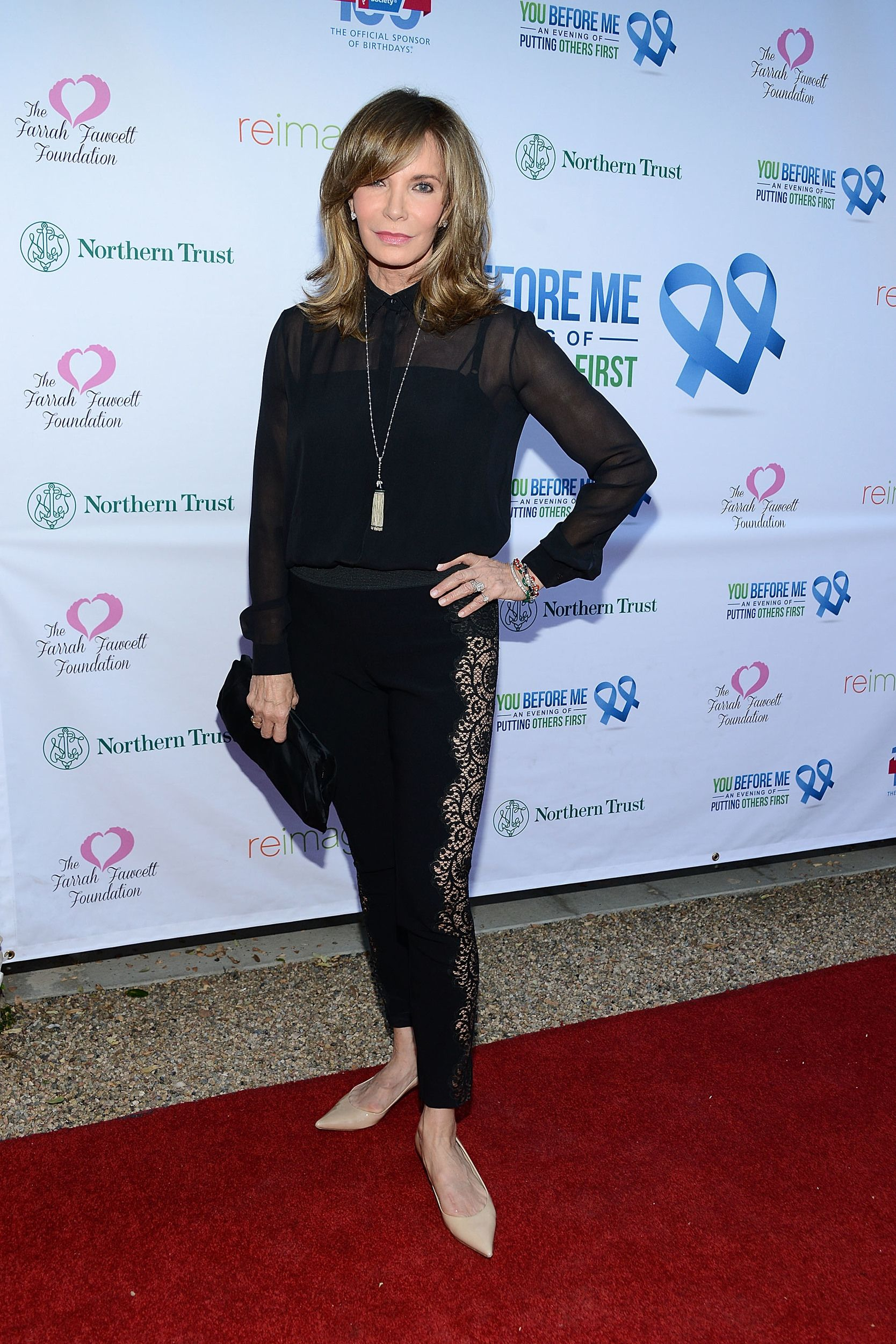 LOS ANGELES, CA - MAY 14:  Jaclyn Smith attends the You Before Me benefit for the 100th birthday of The American Cancer Society  on May 14, 2014 in Los Angeles, California.  (Photo by Araya Diaz/WireImage) via @AOL_Lifestyle Read more: https://www.aol.com/article/entertainment/2017/06/15/charlies-angels-jaclyn-smith-ageless-at-71/22303325/?a_dgi=aolshare_pinterest#fullscreen