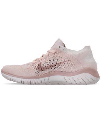 cd5569d70704 Nike Women s Free Run Flyknit 2018 Running Sneakers from Finish Line -  Orange 7