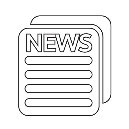 News Icon Symbol Sign Icon Free Vector Illustration Book Icons