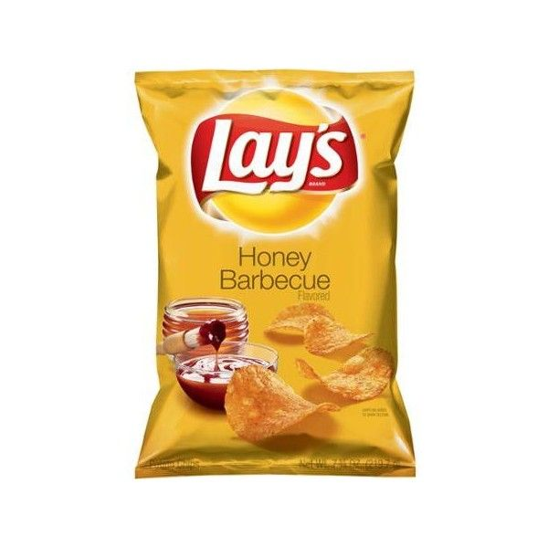 Lays Honey Barbecue Flavored Potato Chips, 7.75 oz. Walmart.com ❤ liked on Polyvore featuring food, filler and groceries