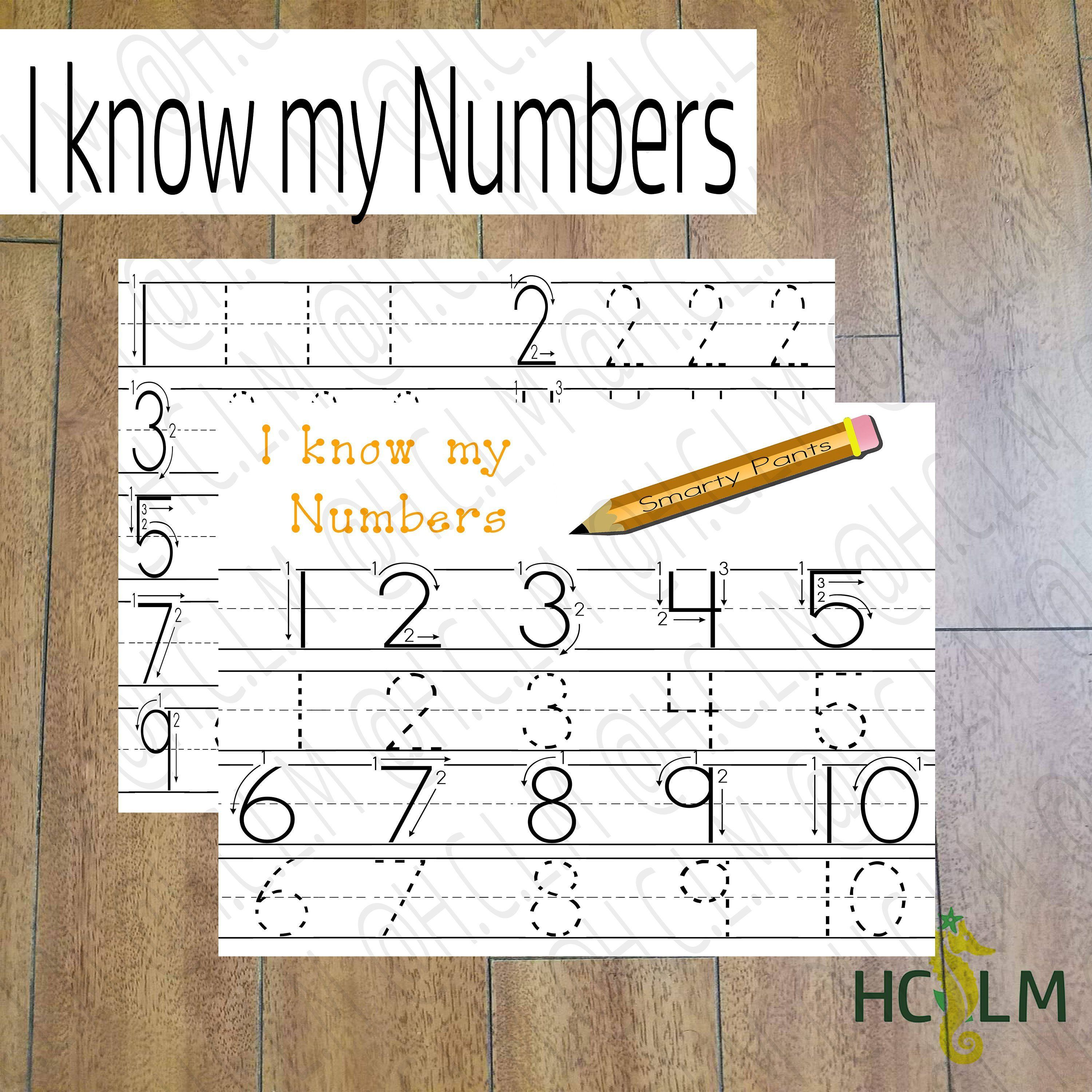 I Know My Numbers Kids Tracing Sheet Numbers Tracing