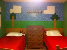 my kids minecraft room perfect bed linens like the beds in minecraft - Kids Bedroom On Minecraft