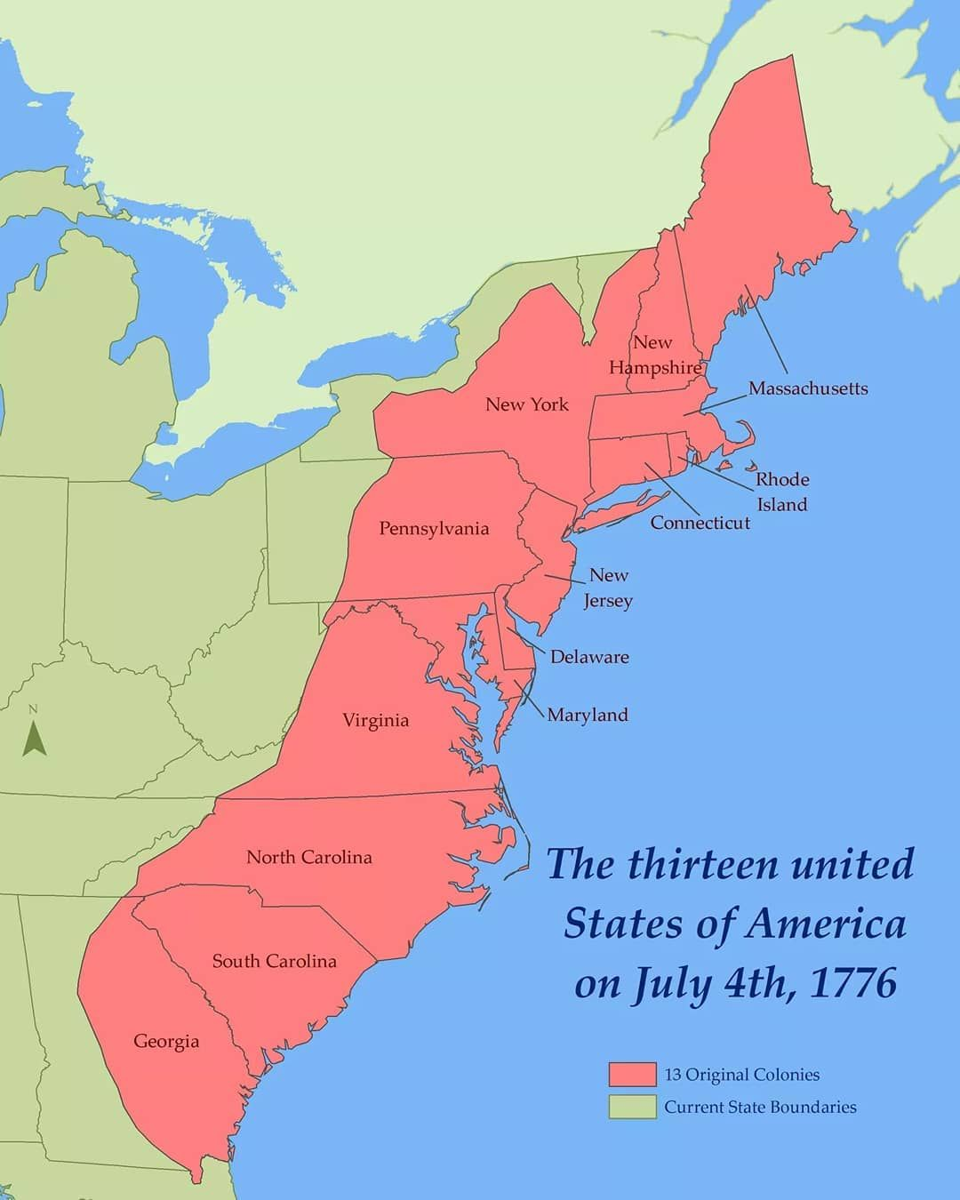 Map Of Us In 1776 Happy Independence day America Map of the United States on July