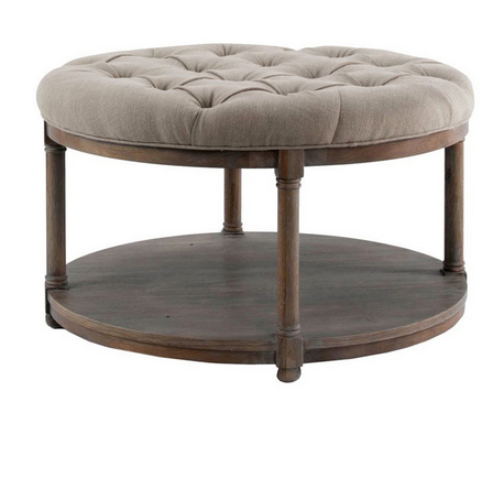 Pleasing Brownstone Furniture Lorraine Round Upholstered Coffee Table Short Links Chair Design For Home Short Linksinfo
