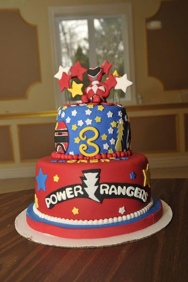 Excellent Three Tier Power Rangers Birthday Cake Power Rangers Birthday Personalised Birthday Cards Veneteletsinfo