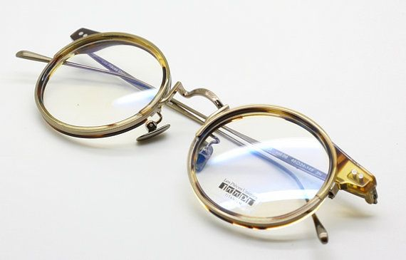 b87035c756 Les Pieces Uniques ENEA Titanium Round CLASSIC Glasses Gold and Light  Tortoiseshell (COL 6)