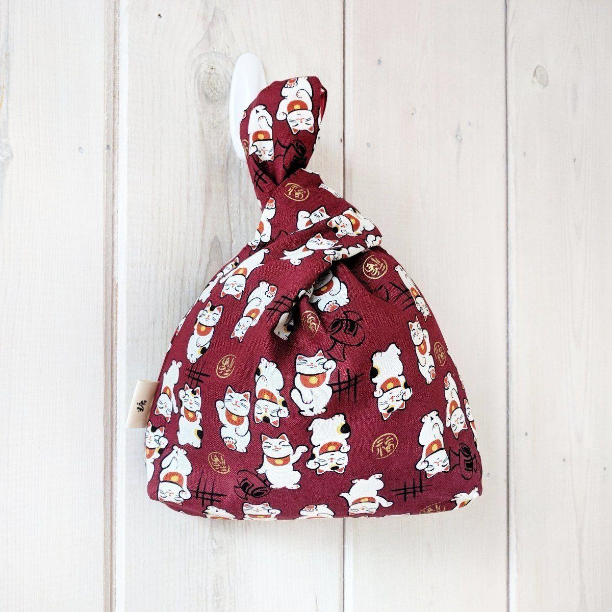 Knot Bag Wristlet Maneki Neko Red Maneki neko, Neko, Red