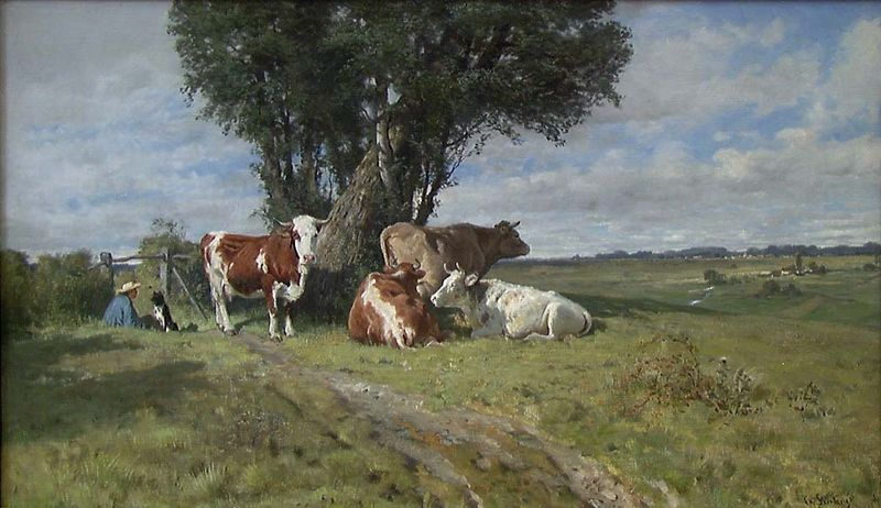 Christian Skredsvig. 1880. Olje på lerret