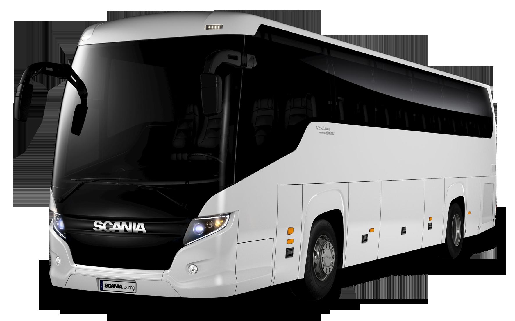 White Bus Png Image Onibus De Festa Receita De Donuts Scania