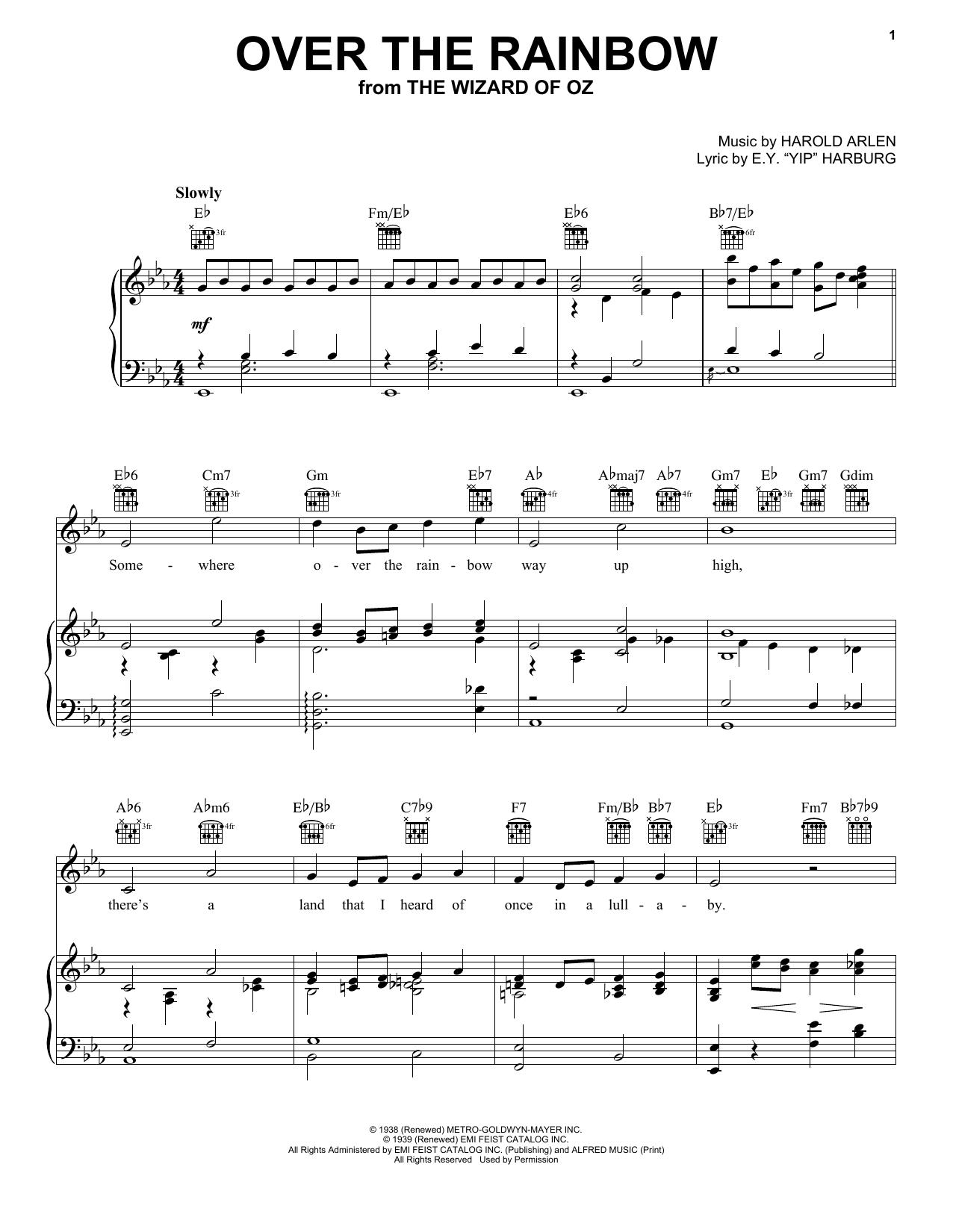 Over The Rainbow Harry Nilsson Sheet music, Guitar