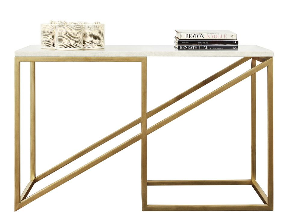 Buy THE ZOID brass CONSOLE by MEIERFERRER Tables Furniture