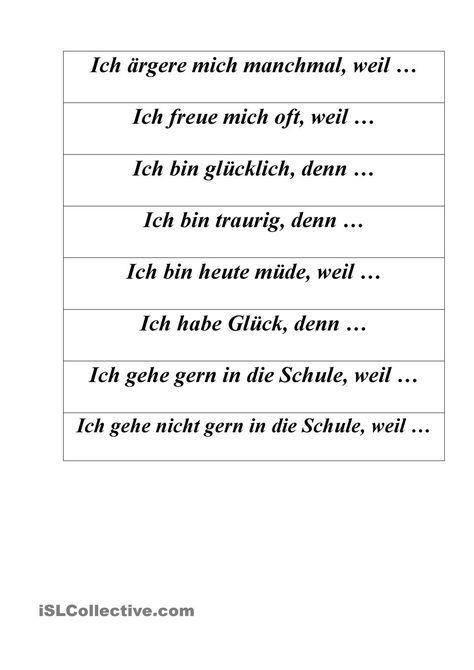 weil s tze unterricht deutsche sprache deutsch lernen und deutsch ben. Black Bedroom Furniture Sets. Home Design Ideas