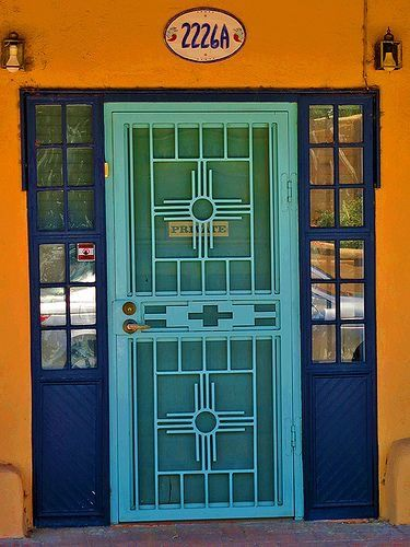 Southwest Style - Mesilla New Mexico & Pin by Sheryl Burger on Doors | Pinterest | Door opener