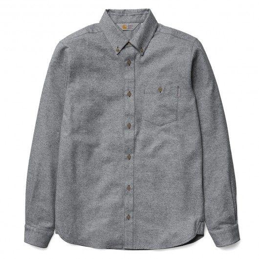 5ff0037cb55c CARHARTT WIP Cram Shirt chemise flanelle black pour homme ...