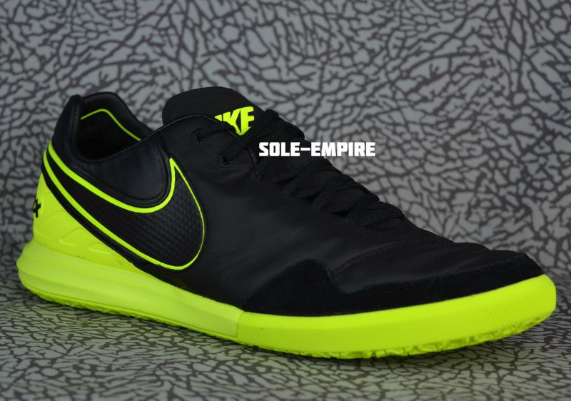 5770247f7 Nike TiempoX Proximo IC 843931-070 Mens Indoor Soccer Shoes Black Volt  Tiempo X