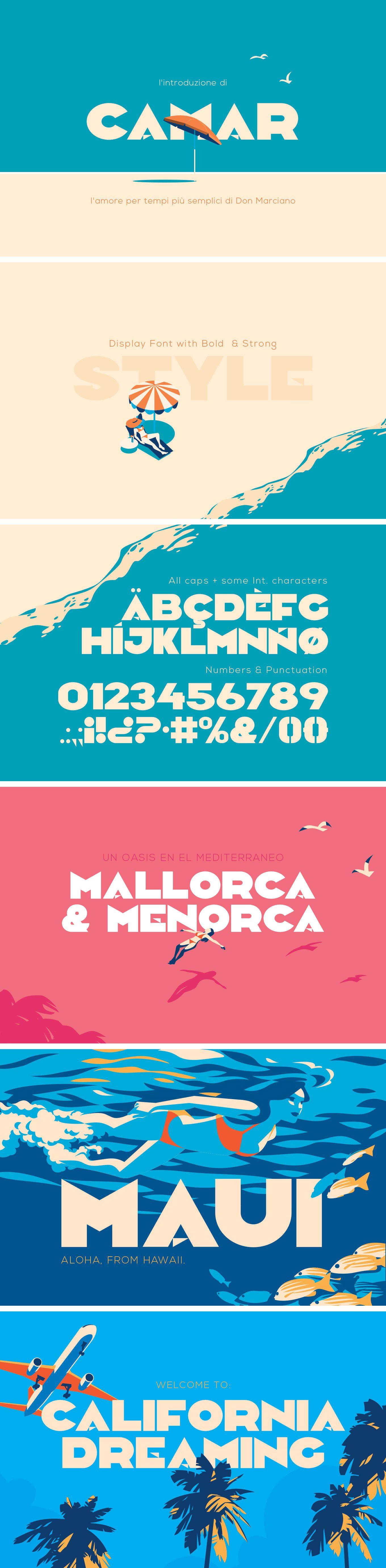 Camar Vintage Font Download Free Typeface Avec Images Police D Ecriture Typographie Ressources