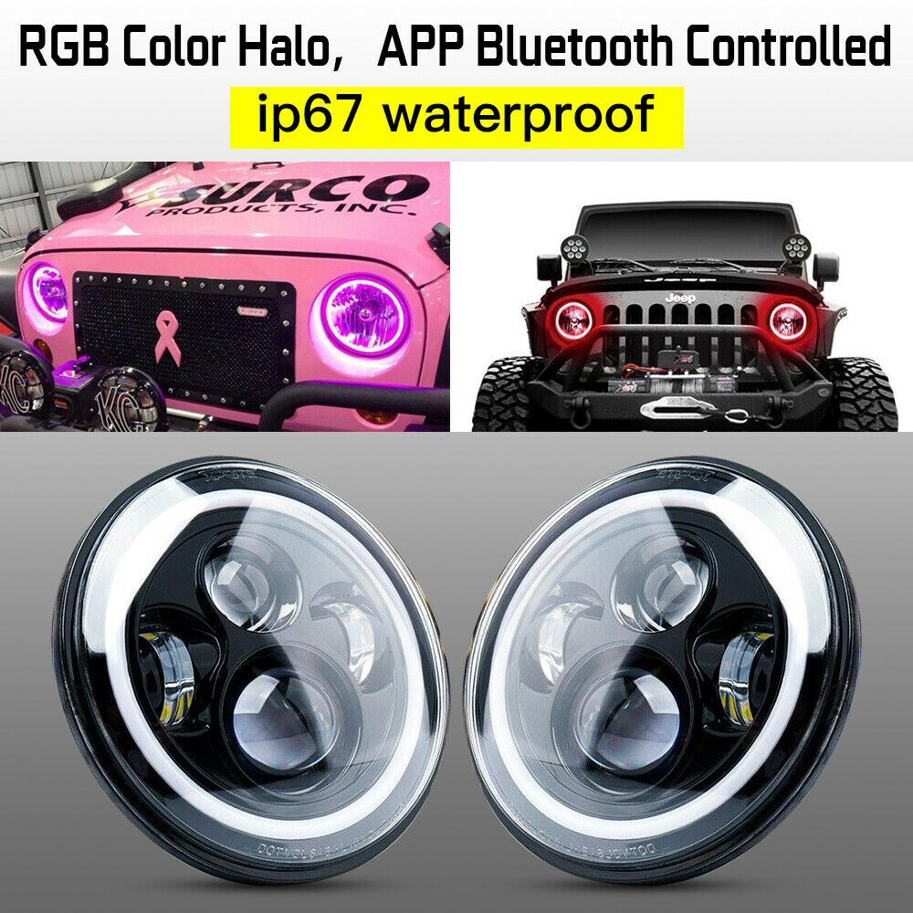 Ad Ebay 7 60w Led Headlights With Drl For 1997 2018 Jeep