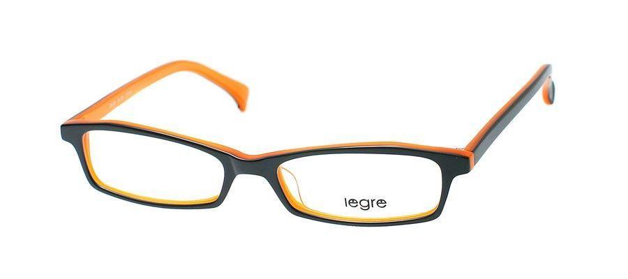 Legre LE060 Black / Orange Back Eyeglasses