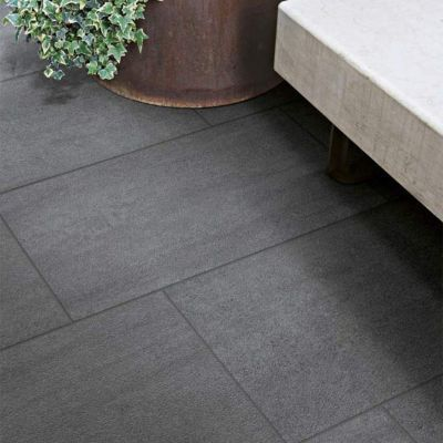 Carrelage terrasse noir 30 x 60 cm COLOURS Oikos Castorama