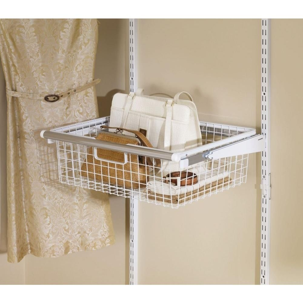 23.5 in. x 7.25 in. Sliding Basket | Wire basket, Drawers and Organizing