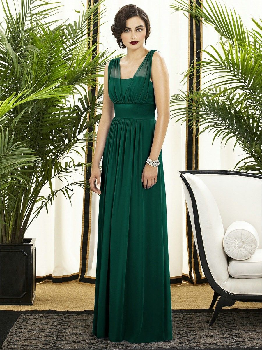 Bridesmaids, chiffon, dresses, green | my wedding ideas ...