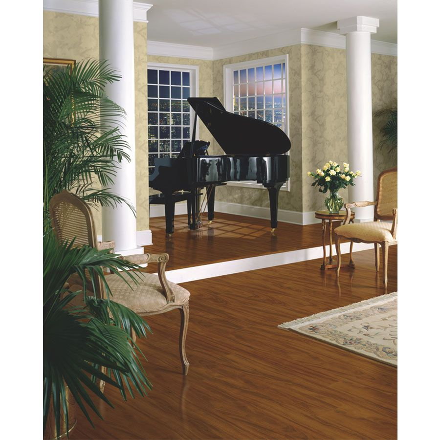 Shop armstrong w x l santos mahogany high - Carpet or laminate in living room ...