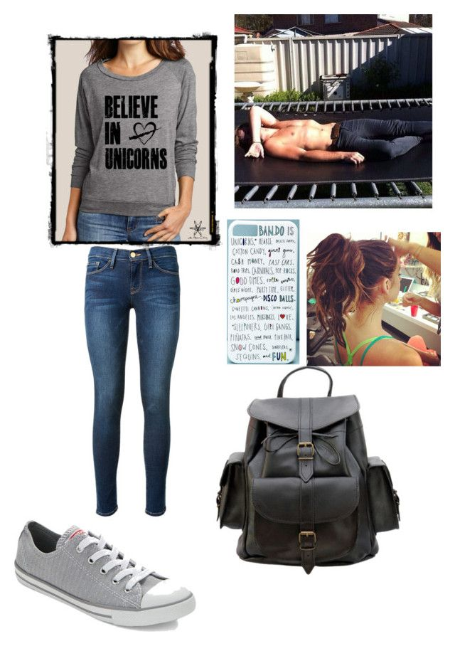 """""""Unicorn battles with Ashton"""" by ducky0524 ❤ liked on Polyvore featuring Converse, Frame Denim, Grafea and Forever 21"""