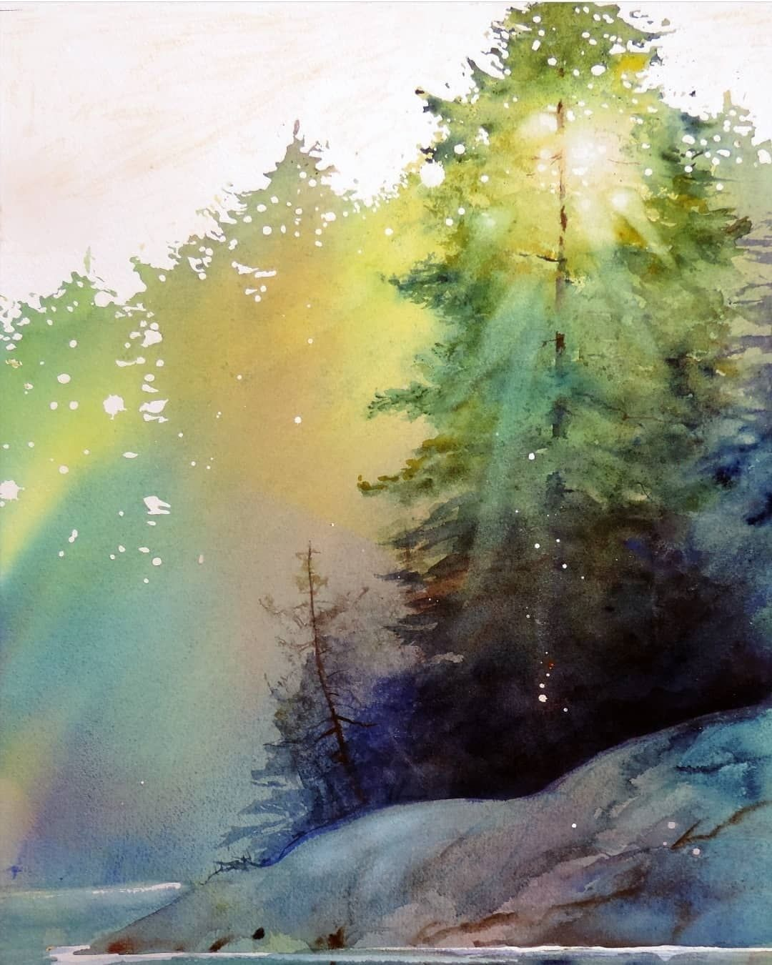 Watercolor Arts On Instagram Watercolor By Unknown Artist
