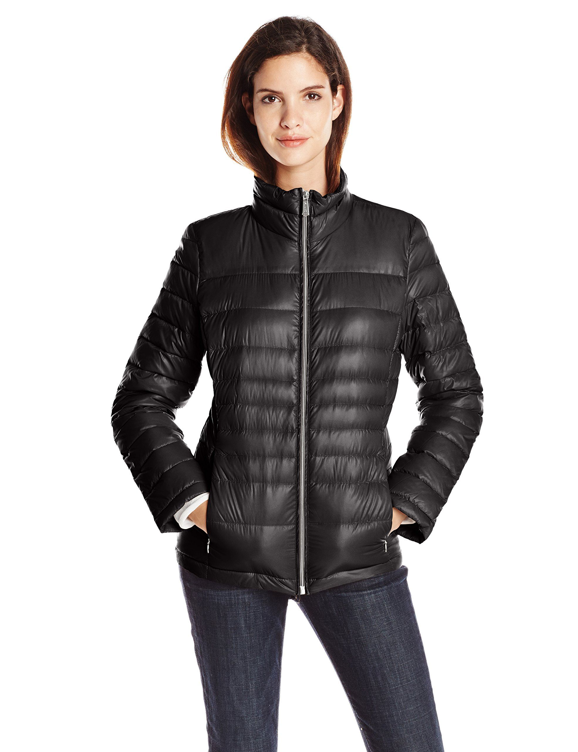 18ec9180c9ddcf Calvin Klein Women's CK Classic Short Packable Jacket at Amazon Women's  Coats Shop